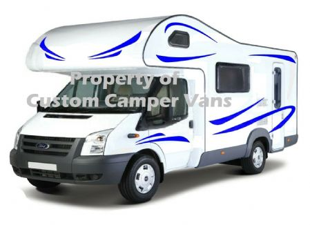 (No.736) MOTORHOME GRAPHICS STICKERS DECALS CAMPER VAN CARAVAN UNIVERSAL FITTING - 312862956855